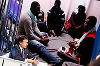 Giuseppe Conte and on the video migrants<br /> Rome January 8th 2019. The Italian Prime Minister appears as a guest on the tv show Porta a Porta<br /> Foto Samantha Zucchi Insidefoto