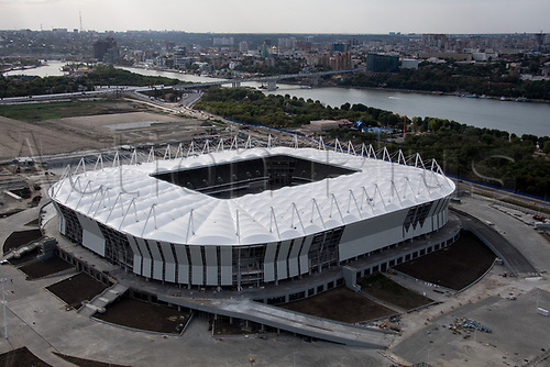 20th August 2017, Rostov-on-Don, Russia; The 'Rostov Arena', photographed in Rostov-on-Don, Russia, 20 August 2017. The city is one of the playing sites for the FIFA World Cup 2018 in Russia.