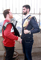 OCT 16 Canelo Alvarez And Rocky Fielding Visit The Empire State Building