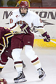 Brian Boyle - The Boston College Eagles and Ferris State Bulldogs tied at 3 in the opening game of the Denver Cup on Friday, December 30, 2005, at Magness Arena in Denver, Colorado.  Boston College won the shootout to determine which team would advance to the Final.