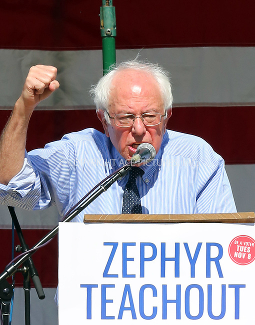 www.acepixs.com<br /> <br /> September 16 2016, New Paltz, NY<br /> <br /> Former presidential candidate Senator Bernie Sanders spoke at a rally for Mid-Hudson congressional candidate Zephyr Teachout in Hasbrouck Park on September 16 2016 in New Paltz NY<br /> <br /> By Line: Philip Vaughan/ACE Pictures<br /> <br /> <br /> ACE Pictures Inc<br /> Tel: 6467670430<br /> Email: info@acepixs.com<br /> www.acepixs.com