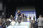 Veranda's Willems-Crelan team presented to the crowd before the start of the 60th edition of the Record Bank E3 Harelbeke 2017, Flanders, Belgium. 24th March 2017.<br /> Picture: Eoin Clarke | Cyclefile<br /> <br /> <br /> All photos usage must carry mandatory copyright credit (&copy; Cyclefile | Eoin Clarke)