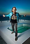 DJ David Guetta photographed at the Soho Beach House, Miami Beach