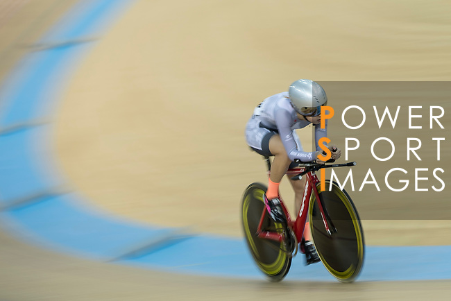 Yang Qianyu of the IND competes in the Women Elite - Individual Pursuit Final category during the Hong Kong Track Cycling National Championships 2017 at the Hong Kong Velodrome on 18 March 2017 in Hong Kong, China. Photo by Chris Wong / Power Sport Images