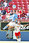 14 December 2008: UNC's Zach Loyd (3) and Maryland's Doug Rodkey (5). The University of Maryland Terrapins defeated the University of North Carolina Tar Heels 1-0 at Pizza Hut Park in Frisco, TX in the championship game of the 2008 NCAA Division I Men's College Cup.