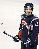 Sami Evelyn (UConn - 15) - The visiting University of Connecticut Huskies defeated the Northeastern University Huskies 4-2 (EN) in NU's senior game on Saturday, February 19, 2011, at Matthews Arena in Boston, Massachusetts.