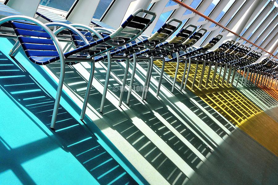 Deck Chairs, Cruise Ship