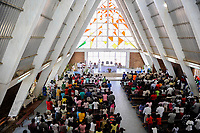 ANGOLA, Cuanza Sul, Sumbe town, Our Lady of the Conception Cathedral, catholic church in modern architecture style