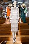 Amandine Florentine dress shown at the Catherine Martin and Muccia Prada Dress Gatsby display at Prada store in SOHO, NYC May 4, 2013.