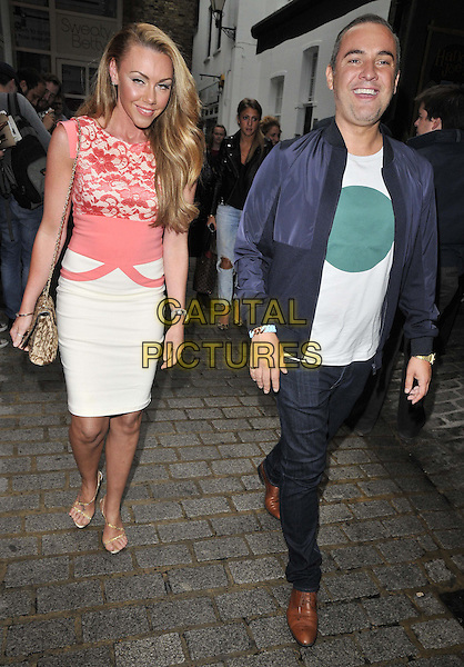 LONDON, ENGLAND - JULY 08: Michelle Heaton &amp; Nick Ede attend the Malibu Airways National Pina Colada Day party, Disco, Kingly Court, on Tuesday July 08, 2014 in London, England, UK. <br /> CAP/CAN<br /> &copy;Can Nguyen/Capital Pictures