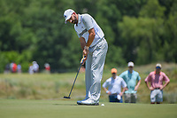 Sergio Garcia (ESP) lines up his putt on 2 during round 2 of the AT&amp;T Byron Nelson, Trinity Forest Golf Club, at Dallas, Texas, USA. 5/18/2018.<br /> Picture: Golffile | Ken Murray<br /> <br /> <br /> All photo usage must carry mandatory copyright credit (&copy; Golffile | Ken Murray)