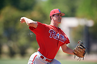 Philadelphia Phillies pitcher Tyler Hallead (40) during a Minor League Spring Training game against the Pittsburgh Pirates on March 23, 2018 at the Carpenter Complex in Clearwater, Florida.  (Mike Janes/Four Seam Images)