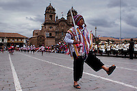 Cusco, Peru. 25 July 2014. A peruvian takes part in the parade for the 193rd Independence's anniversary of Peru.  Photo by Juan Gabriel Lopera/VIEWpress.