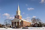 Rooke Chapel with Holiday Wreaths.Bucknell University, Lewisburg, PA.
