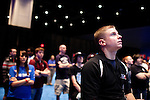 August 28, 2010. Raleigh, North Carolina.. An official for MLG watches a round of Halo 3. Referees were on hand to solve any game disputes.. Major League Gaming (MLG), the league for professional videogame players, held their 50th Pro Circuit competition at the Raleigh Convention Center, with gamers from all over the country coming to for 3 days of competition in Halo 3, Tekken 6, Super Smash Bros. Brawl, Starcraft 2 and World of Warcraft.