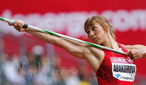 08 JUL 2011 - PARIS, FRA - Mariya Abakumova - women's javelin - Meeting Areva round of the Samsung Diamond League .(PHOTO (C) NIGEL FARROW)