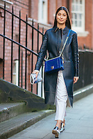Caroline Issa attends Day 2 of London Fashion Week on Feb 21, 2015 (Photo by Hunter Abrams/Guest of a Guest)