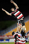 Andrew Van der Heijden fails to claim lineout ball. Air NZ Cup game between Counties Manukau & Otago played at Mt Smart Stadium,Auckland on the 29th of July 2006. Otago won 23 - 19.