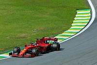17th November 2019; Autodromo Jose Carlos Pace, Sao Paulo, Brazil; Formula One Brazil Grand Prix, Race Day; Sebastian Vettel (GER) Scuderia Ferrari SF90 - Editorial Use