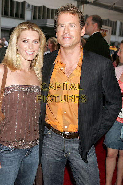 "GREG KINNEAR & GUEST.At the ""Bad News Bears"" Film Premiere held at the Ziegfeld Theatre, New York City, NY, .USA, 18 July 2005..half length .Ref: ADM.www.capitalpictures.com.sales@capitalpictures.com.©Alec Cole/AdMedia/Capital Pictures."