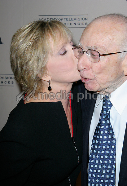 Florence Henderson and Sherwood Schwartz  arrive at the The Academy of Television Arts Sciences Hall Fame Ceremony