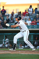Roberto Ramos (22) of the Lancaster JetHawks bats against the Lake Elsinore Storm at The Hanger on June 12, 2017 in Lancaster, California. Lancaster defeated Lake Elsinore, 13-6. (Larry Goren/Four Seam Images)