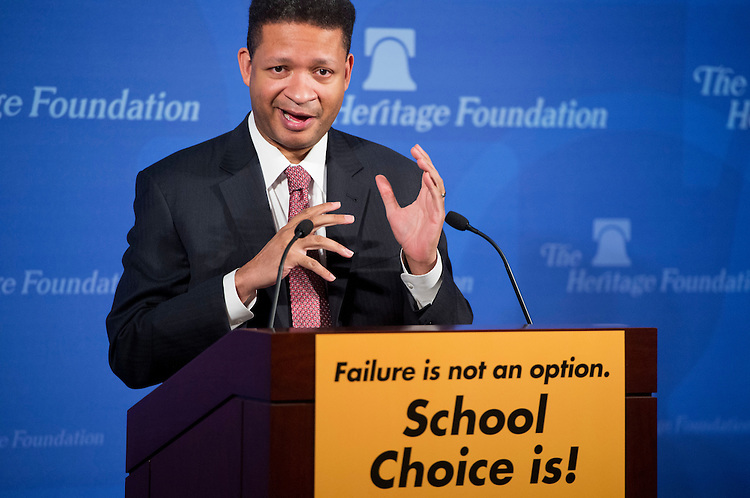 "UNITED STATES - JANUARY 28:  Former Rep. Artur Davis, D-Ala., fellow at the Institute of Politics at Harvard University, conducts a discussion at the Foundation entitled ""Choosing to Succeed: A Conversation about Educational Opportunity."" (Photo By Tom Williams/CQ Roll Call)"