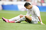 Real Madrid's Cristiano Ronaldo injured during La Liga match. September 26,2015. (ALTERPHOTOS/Acero)