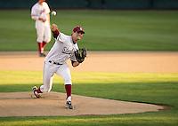 STANFORD, CA - April 19, 2013: Stanford vs Arizona baseball game at Sunken Diamond in Stanford, California. Final score, Stanford 4, Arizona 3.