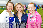 Katie Aherne, Annie Dillon and Jessica Heffernan at Abbeyfeale races on Sunday.