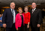 WOLCOTT, CT. 05 April 2018-040518BS09 - From left, Marc Frigon of Waterbury, Lucille Parsons of Waterbury, Janice Perigard and her husband Bob of Waterbury enjoy themselves at the Wolcott Chamber of Commerce awards banquet at Mahan's Lakeview in Wolcott on Thursday evening. Bill Shettle Republican-American