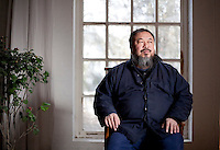 Ai Weiwei photographed in his Beijing studio after the forced demolition of his Shanghai studio by the Chinese government, Beijing, China. Ai Weiwei is a Chinese artist and activist. He intensively uses the internet to communicate with people all over China. On 3 April 2011, police detained him at Beijing airport, his studio in the capital was sealed off, and his staff interrogated pursuant to offical allegations of 'economic crimes'.<br /> 20 Jan 2011
