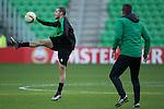 08-12-2015, Training, FC, Europees, Euroborg, Oussama Idrissi of FC Groningen, assistent-trainer Marcel Groninger of FC Groningen,