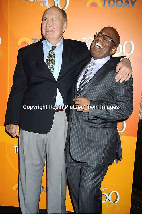 Willard Scott and Al Roker attends The Today Show's 60th Anniversary celebration party on January 12, 2012 at The Edison Ballroom in New York City.