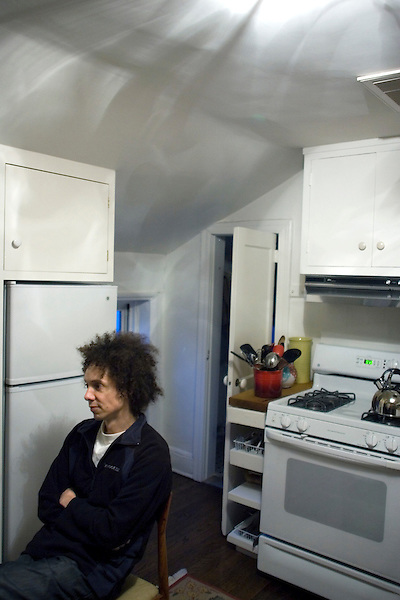 "Malcolm Gladwell, bestselling author of ""Blink"" and writer for the New Yorker, at his home in the West Village of Manhattan."
