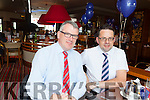 Derek Rusk Manager of Manor West Shopping Centre and Retail Park and Tadhg O'Regan manager of Woodies enjoying lunch in the Manor West Hotel to celebrate its 10th anniversary.