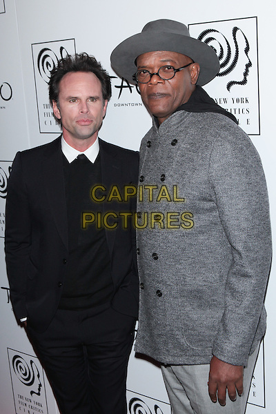 NEW YORK, NY - JANUARY 4:  Walton Goggins and Samuel L. Jackson  at the New York Film Critics Circle Awards at TAO Downtown in New York City on January 4, 2016. <br /> CAP/MPI99<br /> &copy;MPI99/Capital Pictures
