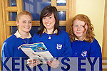 Jenny McCarthy, Amy Walsh and Katie McKenna from Presentation Killarney  pictured at the Blue sky day part of the young Entrepreneur programme at the Brandon Hotel on Friday.