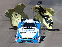 Feb 25, 2018; Chandler, AZ, USA; NHRA funny car driver John Force during the Arizona Nationals at Wild Horse Pass Motorsports Park. Mandatory Credit: Mark J. Rebilas-USA TODAY Sports