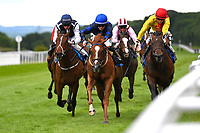 Winner of The First Carlton Novice Auction Stakes Div 1  Gold Venture (m) ridden by Hollie Doyle and trained by Archie Watson during Evening Racing at Salisbury Racecourse on 11th June 2019