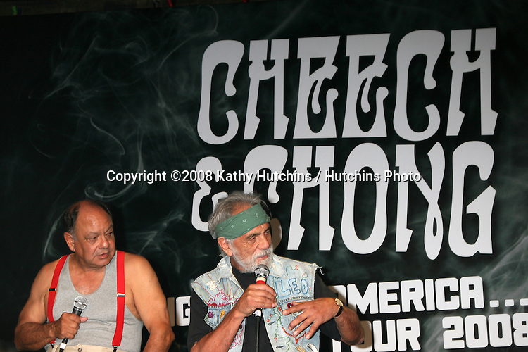 Cheech Marin & Tommy Chong .Cheech & Chong Press Conference in West Hollywood, CA on.July 30, 2008.©2008 Kathy Hutchins / Hutchins Photo .