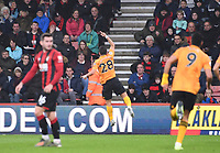 23rd November 2019; Vitality Stadium, Bournemouth, Dorset, England; English Premier League Football, Bournemouth Athletic versus Wolverhampton Wanderers; Joao Moutinho of Wolverhampton Wanderers celebrates scoring from the free kick in 21st minute 0-1 - Strictly Editorial Use Only. No use with unauthorized audio, video, data, fixture lists, club/league logos or 'live' services. Online in-match use limited to 120 images, no video emulation. No use in betting, games or single club/league/player publications
