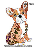 Interlitho-Alfredo, REALISTIC ANIMALS, REALISTISCHE TIERE, ANIMALES REALISTICOS, paintings+++++,french bulldog,KL4531,#a#, EVERYDAY ,dog,dogs