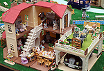 "June 10, 2016, Tokyo, Japan - Animal dolls and toy houses  of ""Sylivanian Families"", produced by Japanese toy maker Epoch are displayed at the annual Tokyo Toy Show in Tokyo on Friday, June 10, 2016. Some 160,000 people are expecting to visit the four-day toy trade show.   (Photo by Yoshio Tsunoda/AFLO) LWX -ytd-"