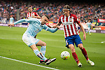 Atletico de Madrid's Filipe Luis and Celta de Vigo's Iago Aspas during La Liga Match at Vicente Calderon Stadium in Madrid. May 14, 2016. (ALTERPHOTOS/BorjaB.Hojas)