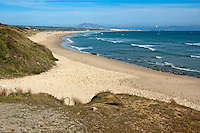 Playa de los Lances beach, Tarifa, Andalusia, Spain.
