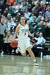 23 February 2018:  Kelsey Walsberg during an NCAA women's CCIW Semi-Final basketball game between the Elmhurst Bluejays and the Illinois Wesleyan Titans in Shirk Center, Bloomington IL