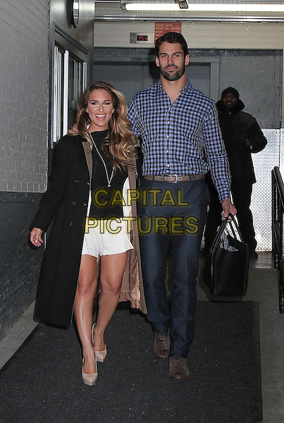 NEW YORK, NY - JANUARY 20: Jessie James Decker and husband NY Jets wide receiver Erick Decker spotted leaving 'HuffPost Live' in New York, New York on January 20, 2016. <br /> CAP/MPI/RMP<br /> &copy;RMP/MPI/Capital Pictures