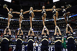 11 March 2016: Notre Dame cheerleaders. The University of North Carolina Tar Heels played the University of Notre Dame Fighting Irish at the Verizon Center in Washington, DC in the Atlantic Coast Conference Men's Basketball Tournament semifinal and a 2015-16 NCAA Division I Men's Basketball game. UNC won the game 78-47.
