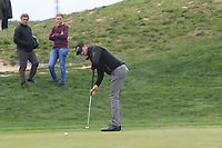 Sebastian Heisele (GER) on the 4th green during Round 1 of the Open de Espana 2018 at Centro Nacional de Golf on Thursday 12th April 2018.<br /> Picture:  Thos Caffrey / www.golffile.ie<br /> <br /> All photo usage must carry mandatory copyright credit (&copy; Golffile | Thos Caffrey)